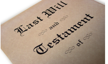 Reporting the estate of a deceased person